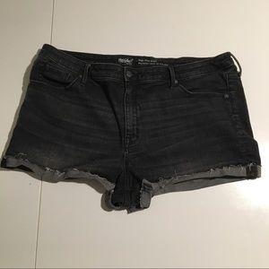 Mossimo Black Denim High Rise Shorts